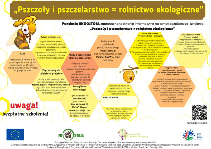 Plakat Pszczoły i pszczelarstwo = rolnictwo ekologiczne.png