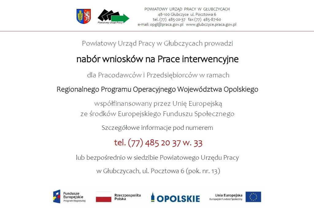 PUP Plakat - nabór wniosków na Prace interwencyjne.jpeg