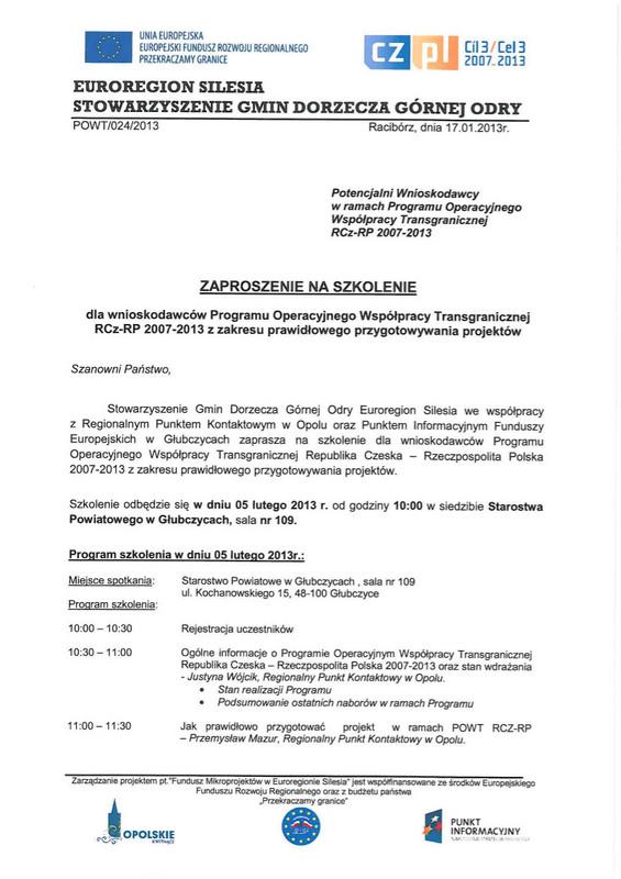 Zaproszenie na szkolenie w dniu 05.02.2013r. w Głubczycach.jpeg