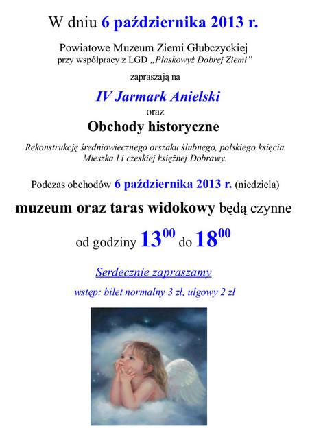 2013 - Jarmark anielski - plakat PMZG.jpeg