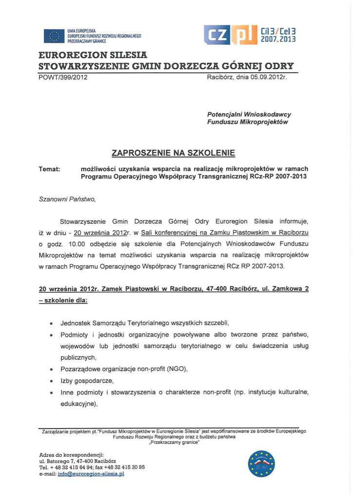Zaproszenie na szkolenie - 20.09.2012r.jpeg