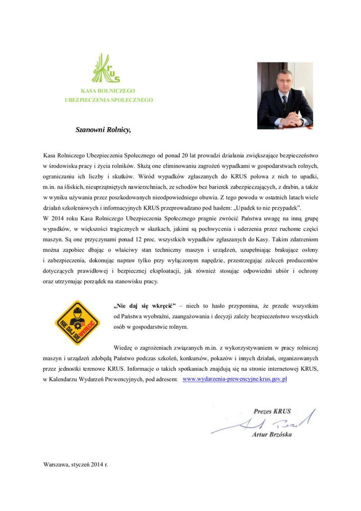 list Prezesa KRUS _niedaj się wkręcić.jpeg